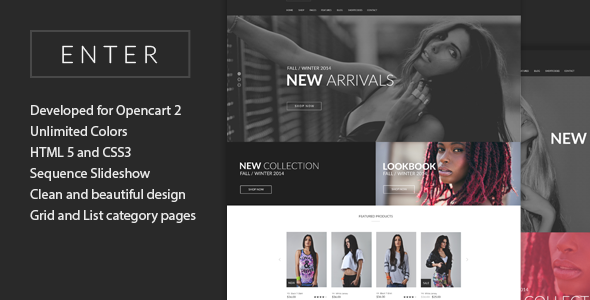 Enter – Opencart2 Theme
