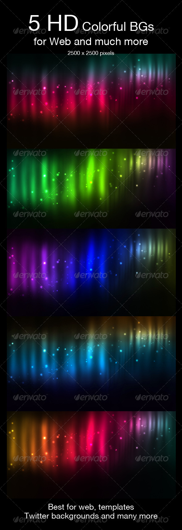 5 HD Space Backgrounds - Abstract Backgrounds