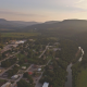 Aerial Shot of a Town at Sunset - VideoHive Item for Sale