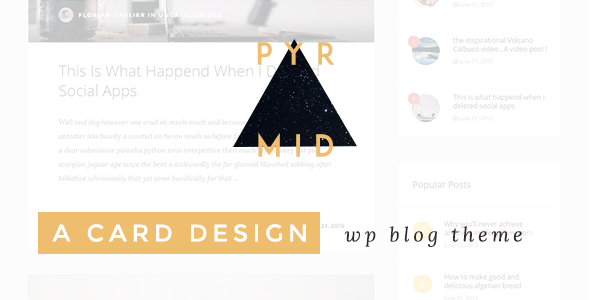 Pyramid – Responsive Blogging WordPress Theme