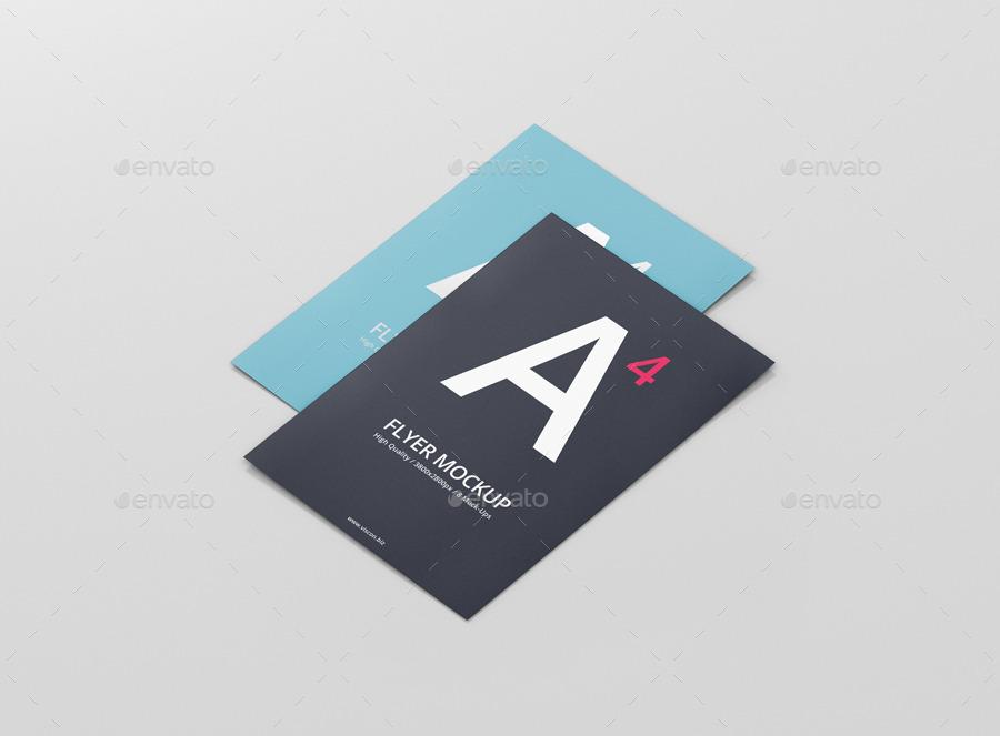 A4 Flyer Mock-Up by visconbiz | GraphicRiver