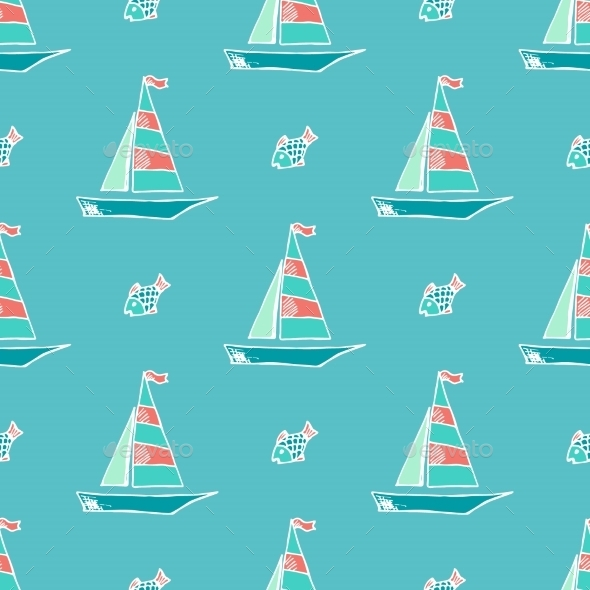 Marine Pattern. - Travel Conceptual