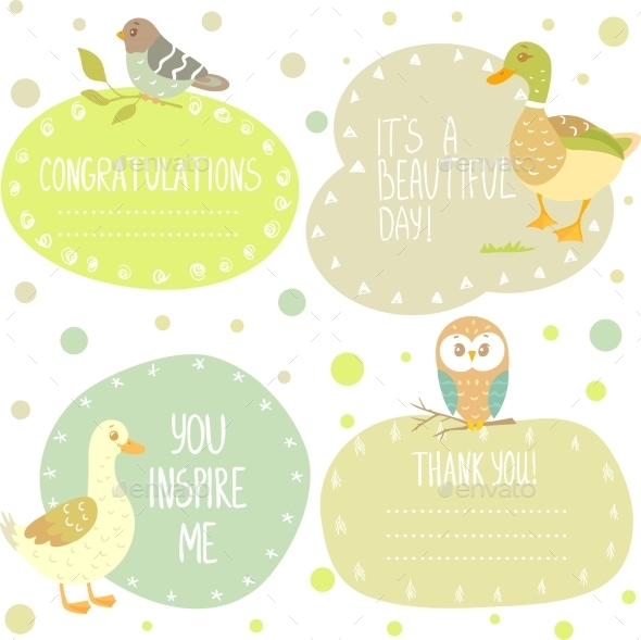 Birds Stickers - Birthdays Seasons/Holidays