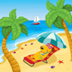 Cartoon Dog Lying on the Beach - GraphicRiver Item for Sale