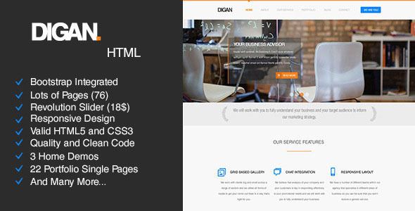 Digan – Multi-Purpose HTML Business Template
