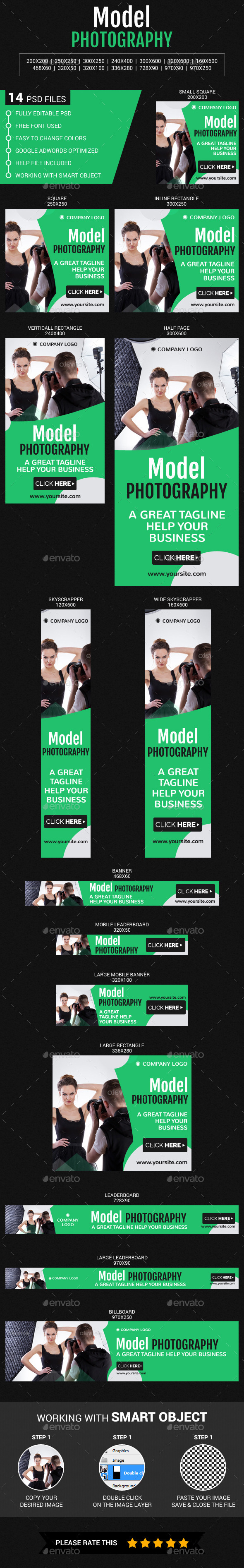Model Photography - Banners & Ads Web Elements