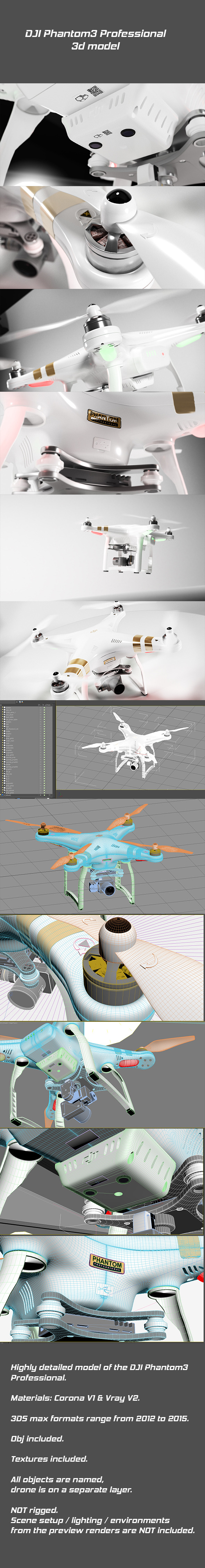 DJI Phantom3 Professional - 3DOcean Item for Sale
