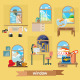 Rooms and Windows Illustration - GraphicRiver Item for Sale