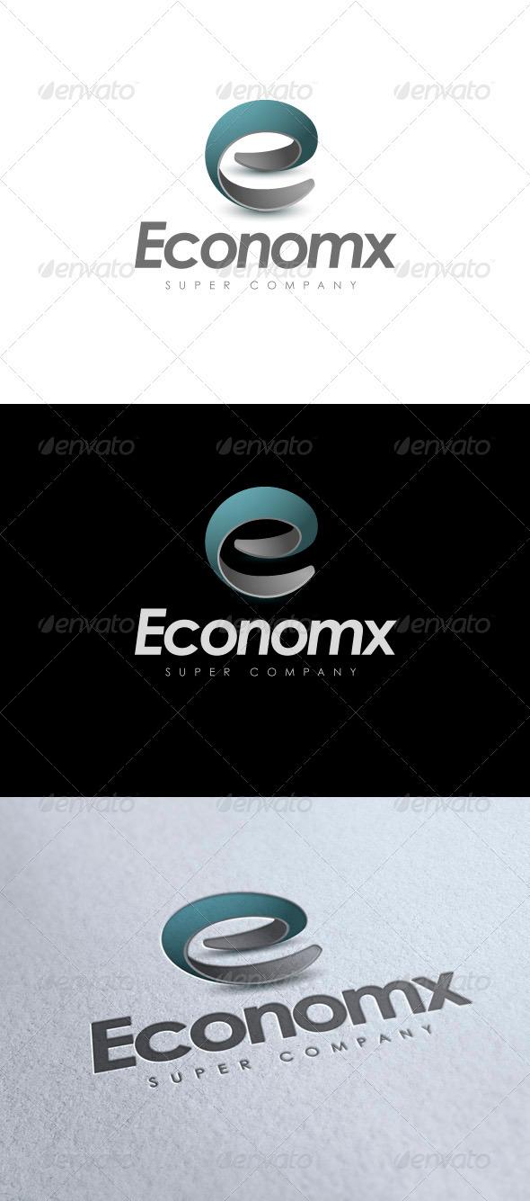 Economx - modern logo - 3d Abstract