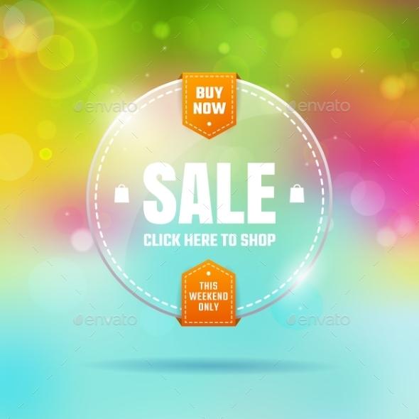Glass Sale - Web Elements Vectors
