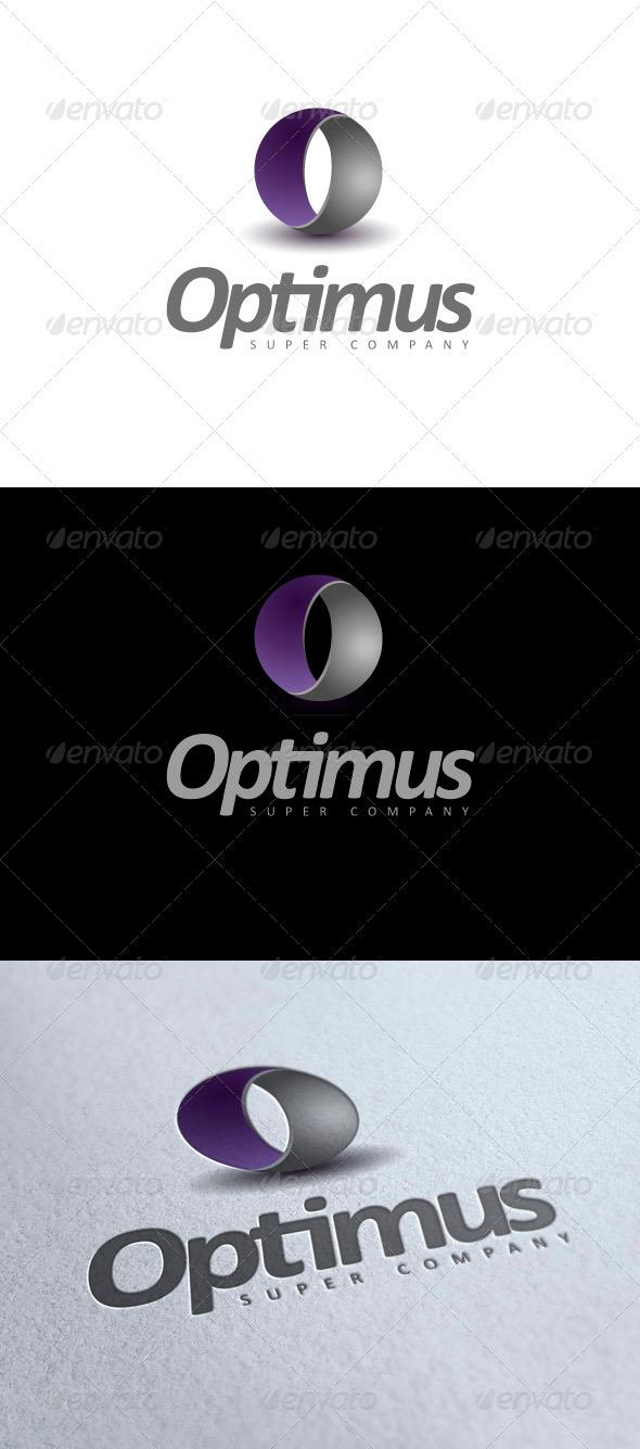 Optimus - modern logo - 3d Abstract