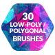30 Low-Poly / Polygonal Photoshop Brushes - GraphicRiver Item for Sale