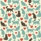 Seamless Pattern With Cats.  - GraphicRiver Item for Sale