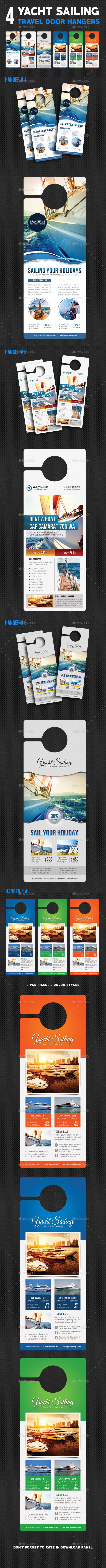 4 Sailing Yacht Travel Door Hanger Bundle - Miscellaneous Print Templates