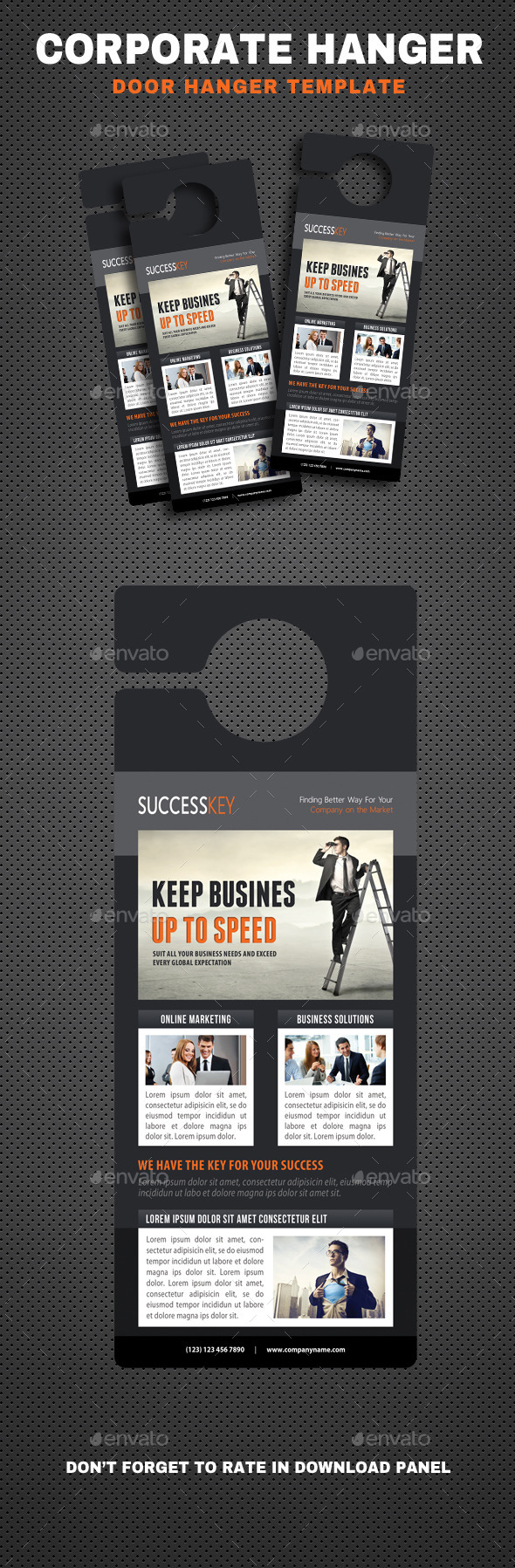 Corporate Door Hangers V09 - Miscellaneous Print Templates
