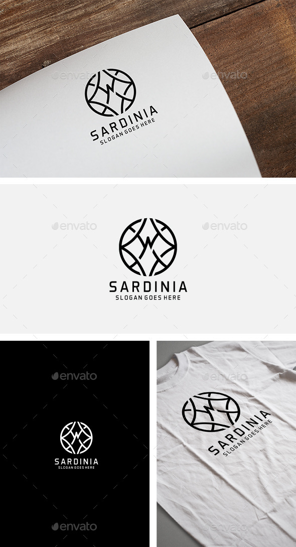 Serdinia Stylish Logo - Crests Logo Templates