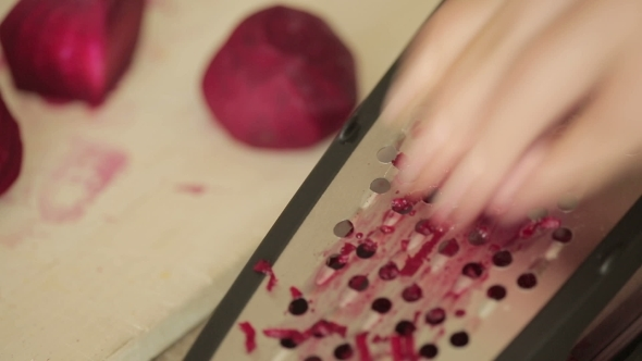 Grate Red Beet By Hand