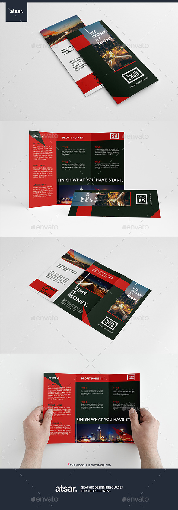 Modern Red Trifold - Corporate Brochures