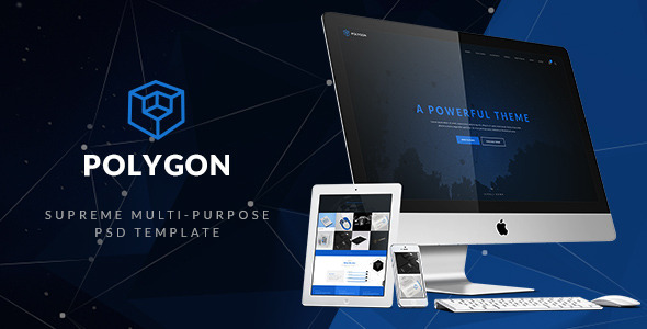Polygon- Supreme Multi-purpose PSD Template