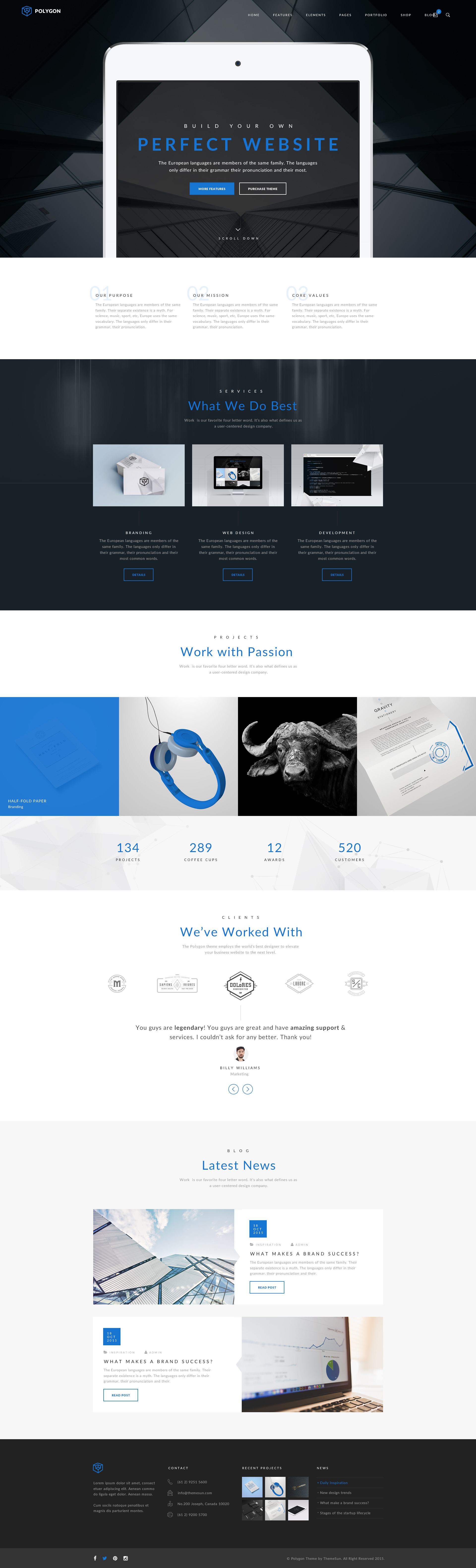 Polygon Supreme Multipurpose PSD Template By ThemeSun ThemeForest - Sample invoice template for services rendered supreme online store