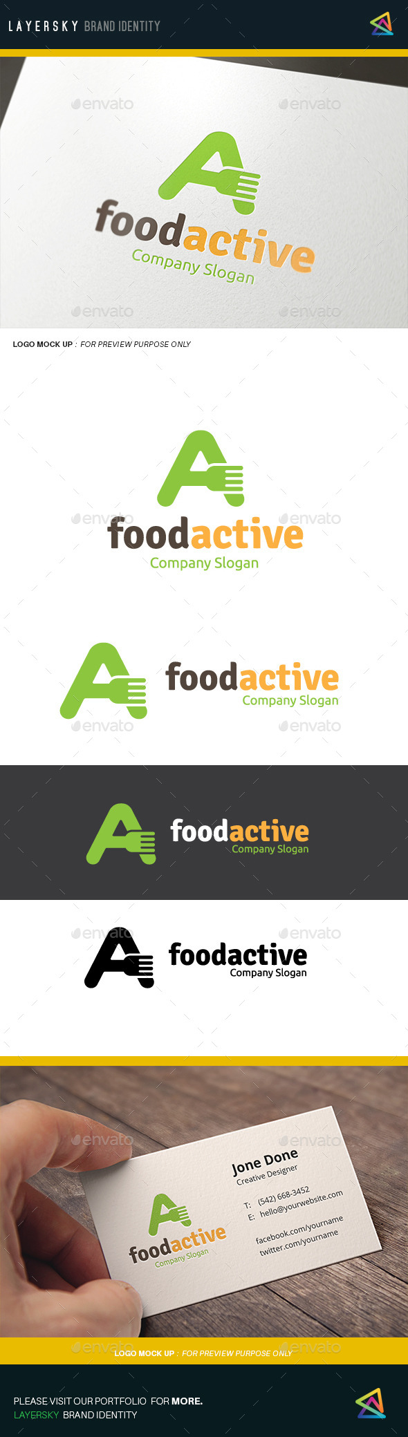 Food Active  - Food Logo Templates