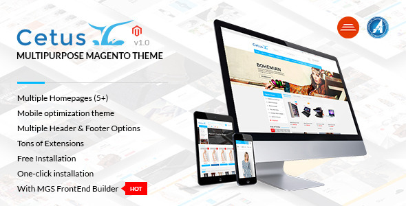 Cetus – Multipurpose Magento Theme