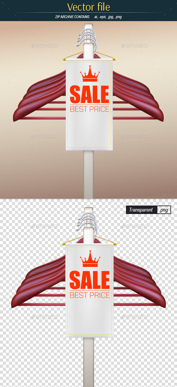 Sale Background with White Realistic Ribbon Banner - Commercial / Shopping Conceptual