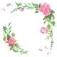 Vintage Watercolor Rose Corners - GraphicRiver Item for Sale