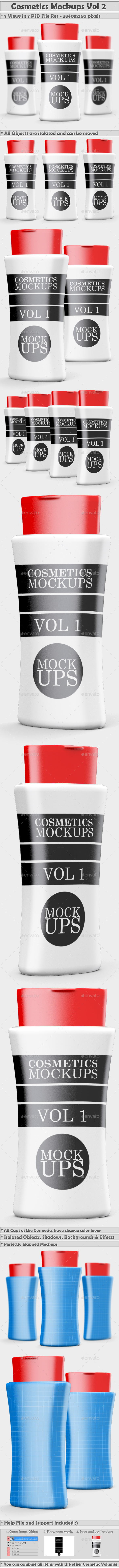 Cosmetics Mockups Vol 2 - Beauty Packaging