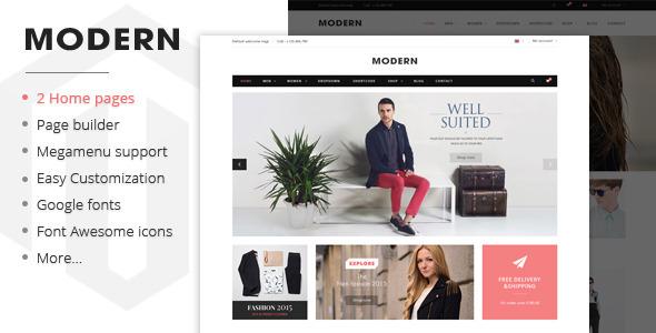 Modern – Responsive Magento Fashion Theme