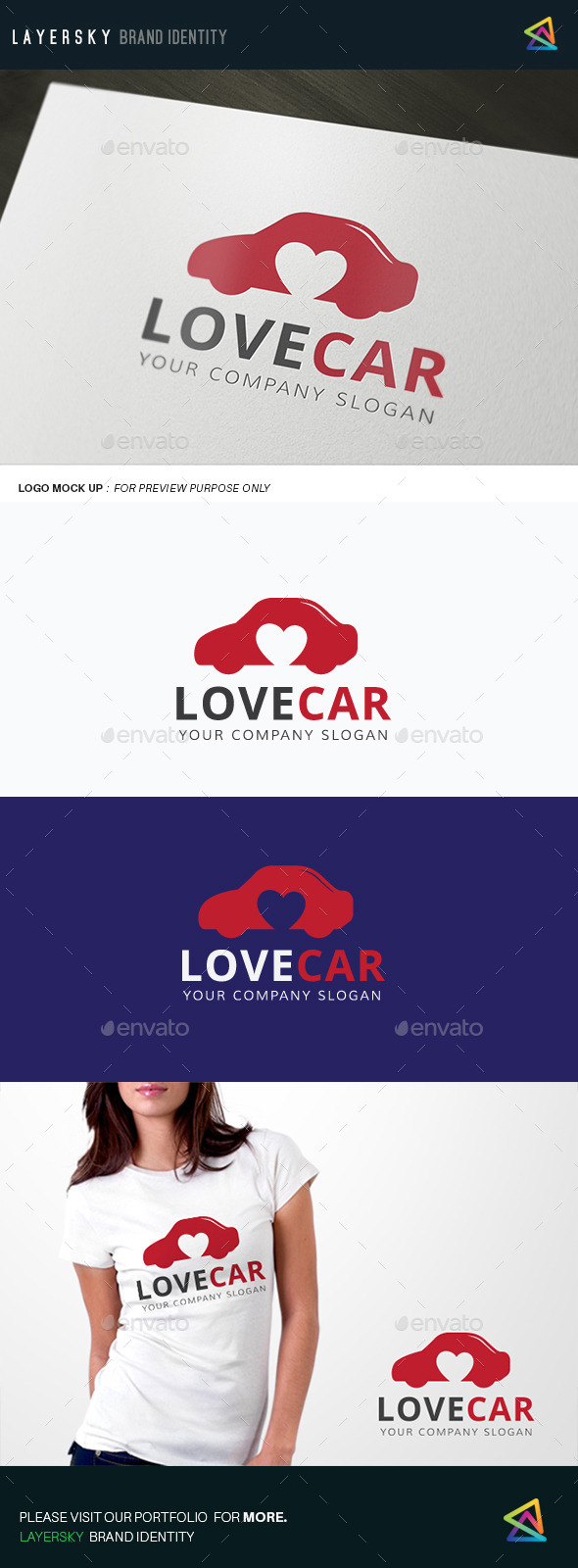 Love Car - Objects Logo Templates