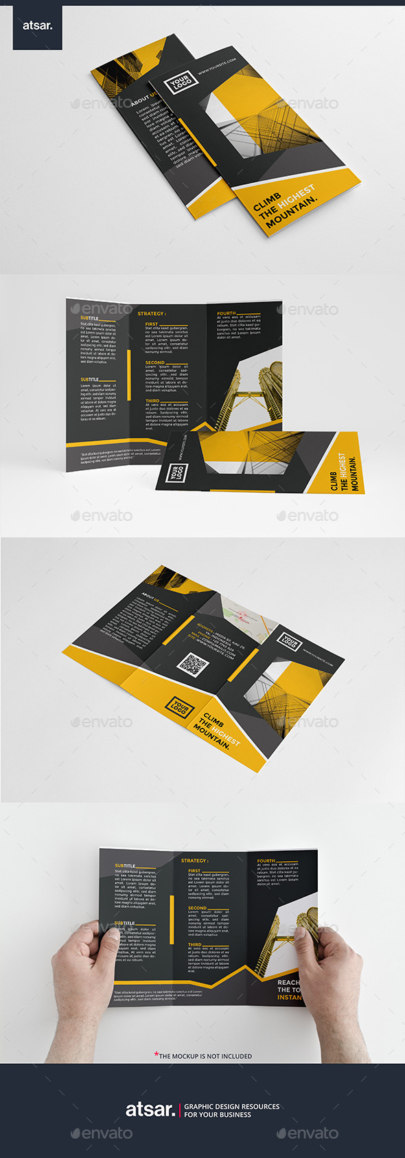 Modern Yellow Trifold - Corporate Brochures