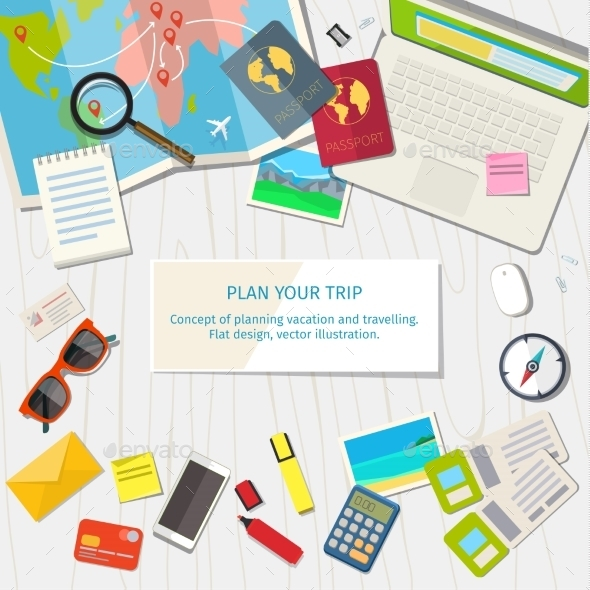 Concept Of Planning Vacation. - Travel Conceptual