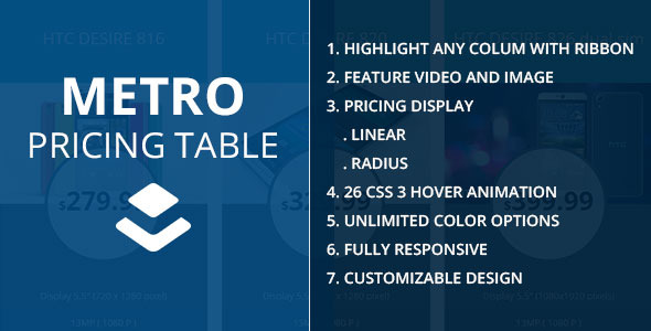 Metro Layerswp Pricing Table Extension - CodeCanyon Item for Sale