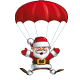 Happy Santa - Parachute Open Hands - GraphicRiver Item for Sale