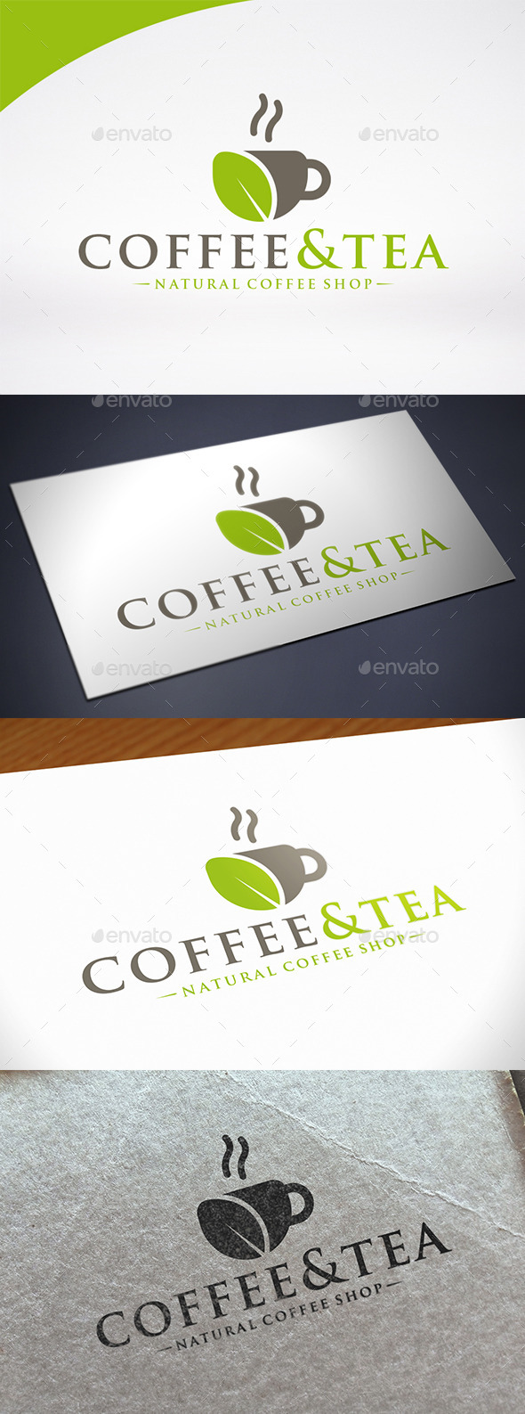 Coffee & Tea Logo Template - Food Logo Templates