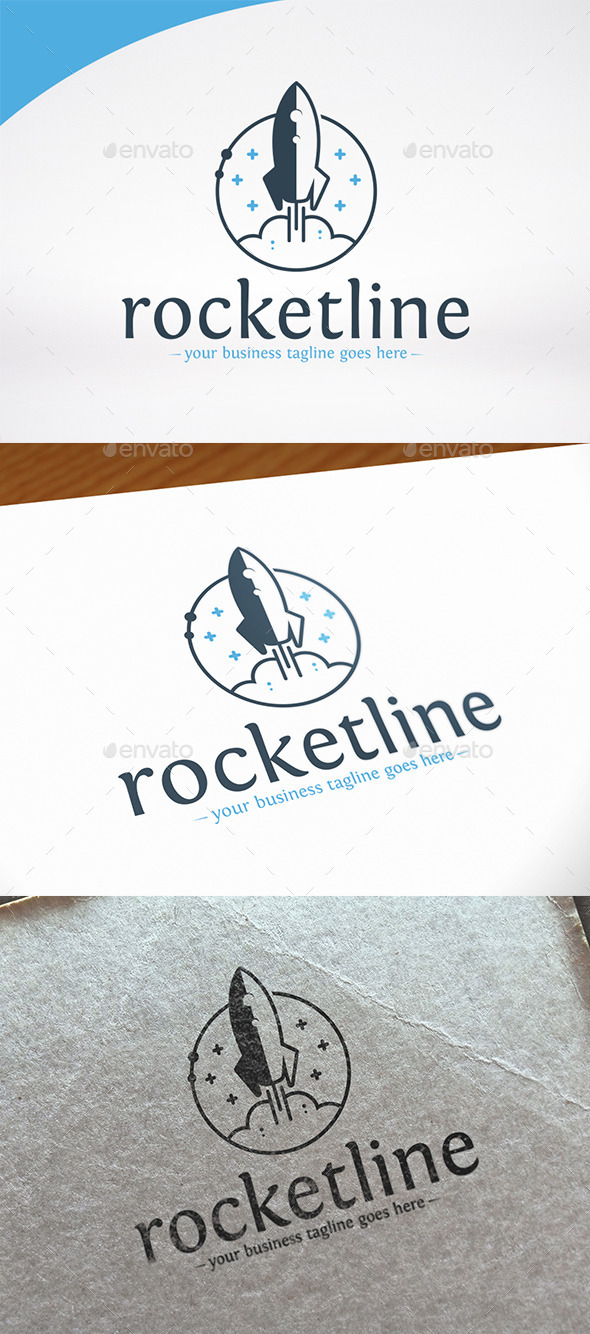 Rocket Launch Logo Template - Objects Logo Templates