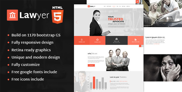 Lawyer – HTML Template