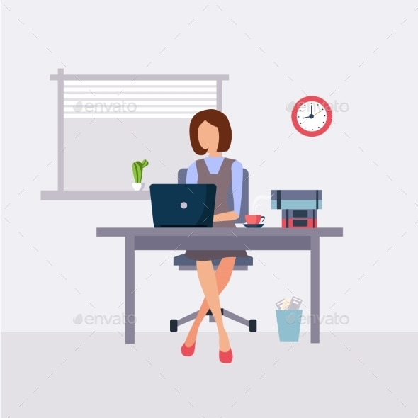 Woman Working In Office - Concepts Business