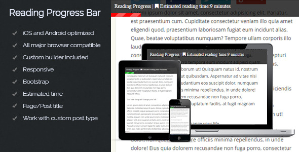 Reading Progress Bar - CodeCanyon Item for Sale
