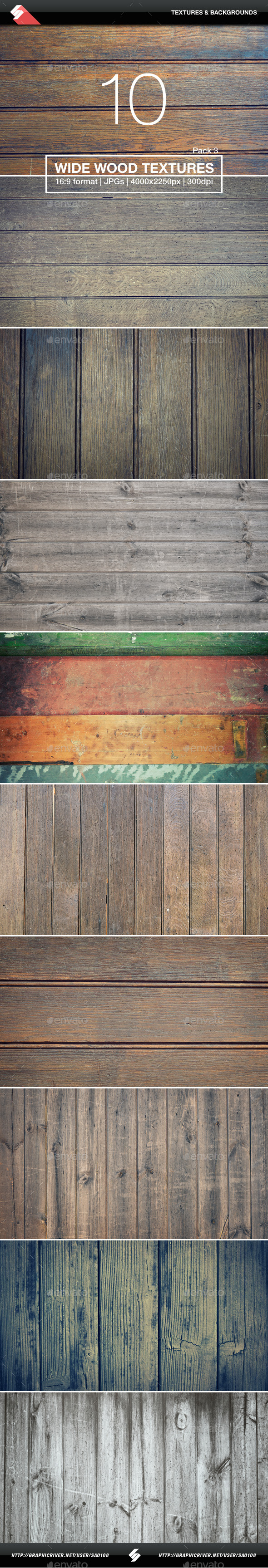 10 Wide Wood Textures 3 - Wooden Backgrounds - Wood Textures