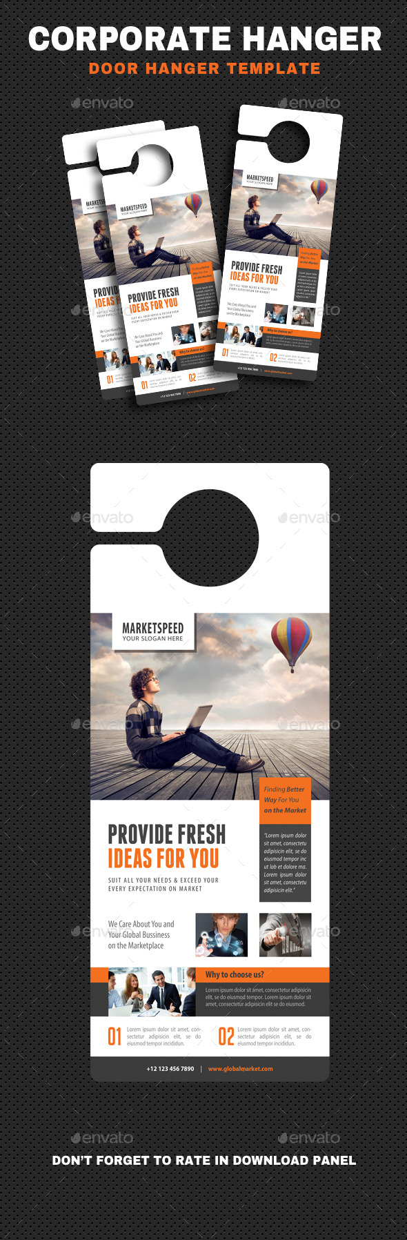 Corporate Door Hangers V12 - Miscellaneous Print Templates
