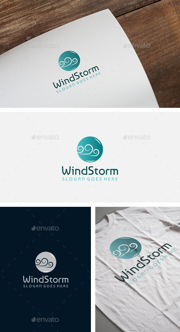 Wind Logo - Nature Logo Templates