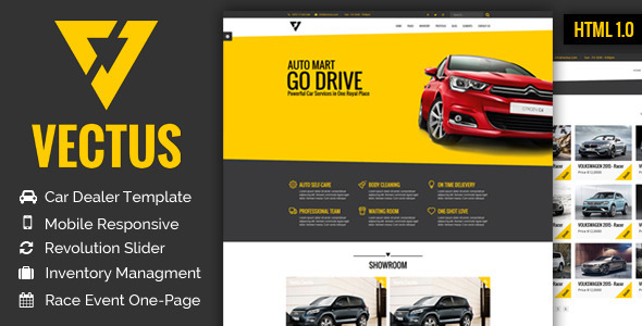VECTUS - Car Dealership & Business HTML Template  - Business Corporate