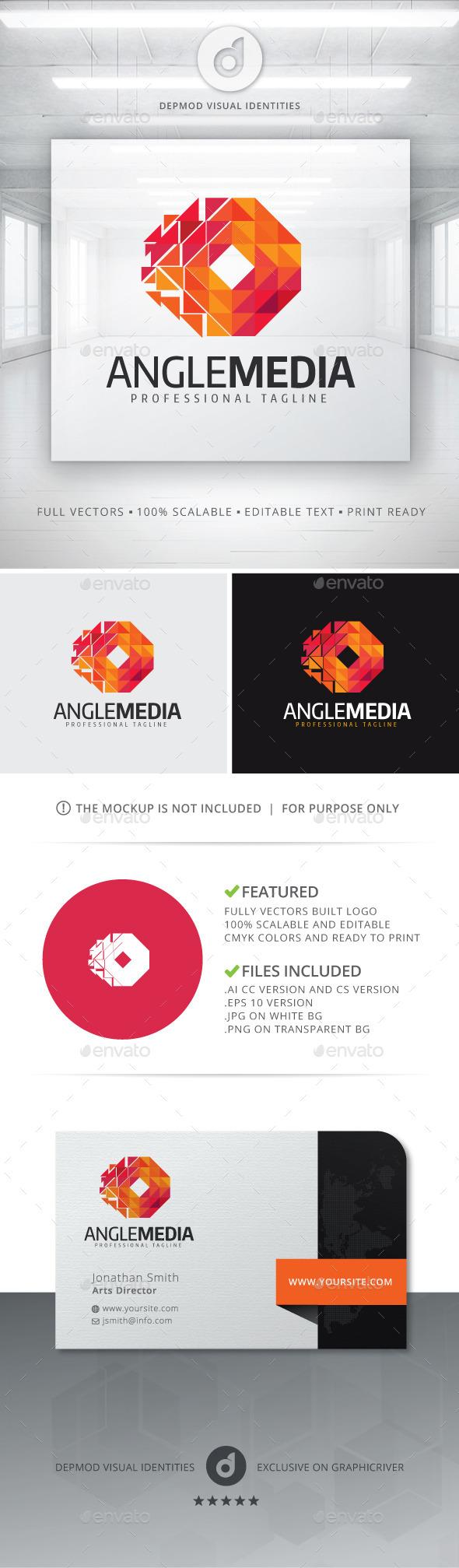 Angle Media Logo - Abstract Logo Templates