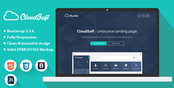 Cloud Soft – HTML Landing Page Template