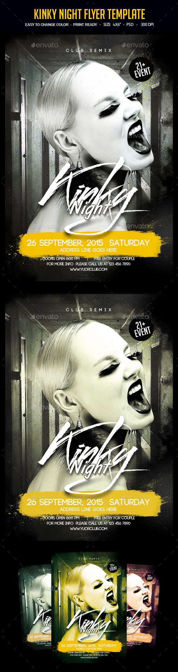 Kinky Night Flyer Template - Clubs & Parties Events
