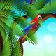 Tropical Jungle with Animals Background - GraphicRiver Item for Sale