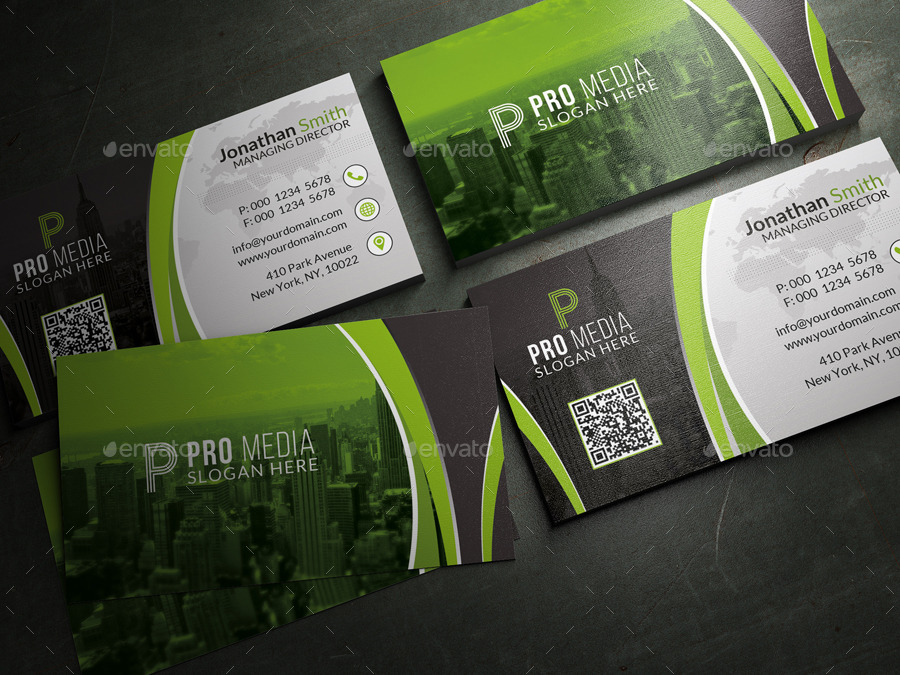Black And Green Business Card By Far Star60 GraphicRiver