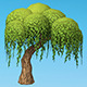 Hand painted Willow tree - 3DOcean Item for Sale